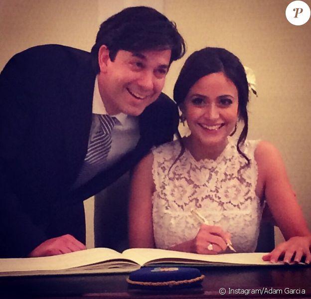 Adam Garcia (Coyote Girls) et Nathalia Chubin se sont mariés à Londres, en mars 2015.