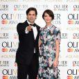 Adam Garcia et Lauren Cuthbertson aux Lawrence Olivier Awards à Londres, le 12 avril 2015.