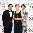 Adam Garcia, Crystal Pite et Lauren Cuthbertson aux Lawrence Olivier Awards à Londres, le 12 avril 2015.