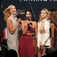 "Karlie Kloss, Kendall Jenner, Gigi Hadid et Jourdan Dunn lors du gala ""Cinema Against AIDS 22"" de l'amfAR à l'hôtel Cap-Eden-Roc. Antibes, le 21 mai 2015."