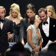 """Tom Ford et Eva Longoria lors du gala """"Cinema Against AIDS 22"""" de l'amfAR à l'hôtel Cap-Eden-Roc. Antibes, le 21 mai 2015."""