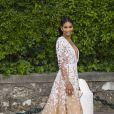 """Chanel Iman arrive à l'hôtel Cap-Eden-Roc pour assister au gala """"Cinema against AIDS 22"""" de l'amfAR. Antibes, le 21 mai 2015."""