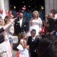 Mariage de Thierry et Véronique, à l'église de Valençay (Indre). Le 23 mai 2015. Les mariés étaient resplendissants.