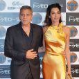 George Clooney et son épouse Amal lors de l'avant-première du film A la poursuite de demain à Tokyon le 25 mai 2015