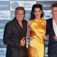 George Clooney et son épouse Amal lors de l'avant-première du film A la poursuite de demain à Tokyo le 25 mai 2015