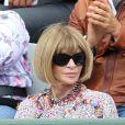 Anna Wintour lors des Internationaux de France à Roland Garros, le 28 mai 2015 à Paris