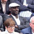 Ladji Doucouré lors des Internationaux de France à Roland Garros, le 28 mai 2015 à Paris