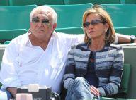 Dominique Strauss-Kahn et Myriam amoureux devant Patrick Bruel à Roland-Garros