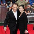 Jean-Claude Van Damme et Gladys Portugues à Londres le 13 août 2012.