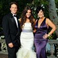 Bruce Jenner, Khloé Kardashian et Kris Jenner au mariage de Khloé et Lamar Odom. Santa Monica, septembre 2009.