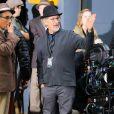 """Steven Spielberg sur le tournage de son dernier film """"St. James Place"""" à New York le 14 septembre 2014."""