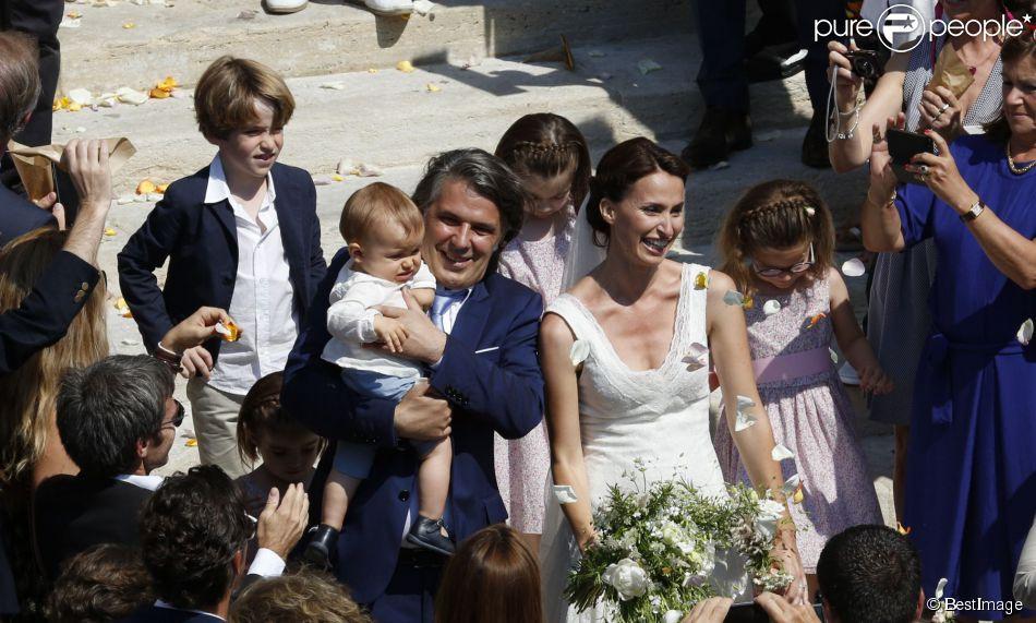 Exclusif , Mariage religieux de Vincent Labrune, Président de l\u0027Olympique  de Marseille,