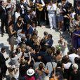 Exclusif - Mariage religieux de Vincent Labrune, Président de l'Olympique de Marseille, et Laetitia de Luca à l'église collégiale Saint-Martin de Saint-Rémy-de-Provence, le 6 juin 2015.
