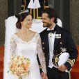 Mariage du prince Carl Philip de Suède et Sofia Hellqvist à la chapelle du palais royal de Stockholm. Le 13 juin 2015  Prince Carl Philip and Sofia Hellqvist at the Chapel of the Royal Palace in Stockholm, on Saturday 13rd June, 201513/06/2015 - Stockholm