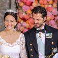 Les mariés dans la chapelle royale - Mariage du prince Carl Philip de Suède et Sofia Hellqvist à Stockholm le 13 juin 2015  STOCKHOLM 2015-06-13. Wedding of Prince Carl Philip of Sweden and Miss Sofia Hellqvist.13/06/2015 - Stockholm