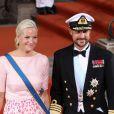 Le prince Haakon de Norvège et la princesse Mette-Marit - Mariage du prince Carl Philip de Suède et Sofia Hellqvist à Stockholm le 13 juin 2015  STOCKHOLM 2015-06-13. Wedding of Prince Carl Philip of Sweden and Miss Sofia Hellqvist. Crown Prince Haakon, Crown Princess Mette-Marit of Norway.13/06/2015 - Stockholm