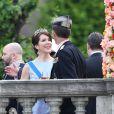 La princesse Mary et le prince Joachim de Danemark - Les invités au balcon du palais royal à la fin de la cérémonie de mariage à Stockholm. Le 13 juin 2015.  Guest at the balcony of the Royal Palace at the end of the wedding ceremony in Stockholm, on June 13, 2015.13/06/2015 - Stockholm
