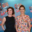 """Irène Jacob et Barbara Schulz - Dîner de gala """"Les Nuits en Or - Panorama"""" à l'UNESCO à Paris, le 15 juin 2015"""