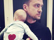 Justin Timberlake, craquant, pose avec son bébé pour la fête des pères
