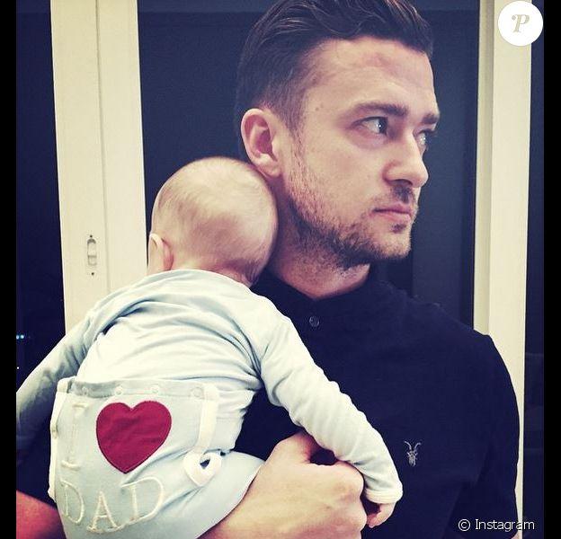 Justin Timberlake et son fils, le 21 juin 2015