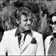 Jean-Paul Belmondo et Laura Antonelli à Cannes en mai 1974.
