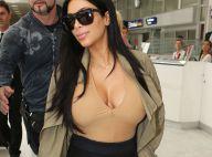 Kim Kardashian enceinte : Décolleté indécent, elle débarque en France !