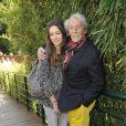 Jean Rochefort et sa fille Clémence aux Internationaux de France de tennis de Roland- Garros le 4 juin 2013