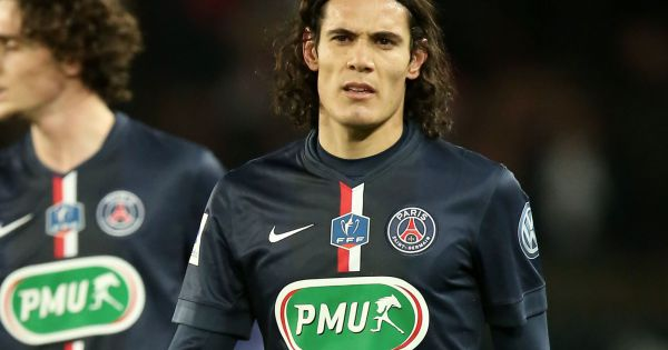 Edinson cavani au quart de finale de la coupe de france de - Finale coupe de france football 2015 ...