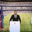 Keylor Navas, gardien de but et nouvelle recrue du Real Madrid, a été officiellement présenté à la presse et aux supporters merengue le 5 août 2014 à Santiago Bernabeu.