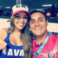 Andrea Salas et Keylor Navas en juin 2014