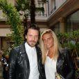 """Exclusif - Brice Conrad et Guest - Soirée """"White Party"""" au Prince de Galles à Paris le 24 juin 2015."""