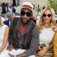 Ama're Stoudemire et sa femme Alexis Welch - Défilé Berluti printemps-été 2016 au musée Picasso à Paris le 26 juin 2015.