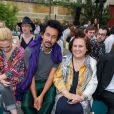 Haider Ackermann et Suzy Menkes - Défilé Berluti printemps-été 2016 au musée Picasso à Paris le 26 juin 2015.