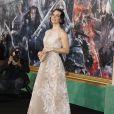 """Evangeline Lilly lors de la première du film """"Le Hobbit : La Bataille des Cinq Armées"""" au Dolby Theatre à Hollywood, le 9 décembre 2014."""