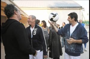 REPORTAGE PHOTOS EXCLUSIVES : Patrick Bruel, jamais sans son ballon !