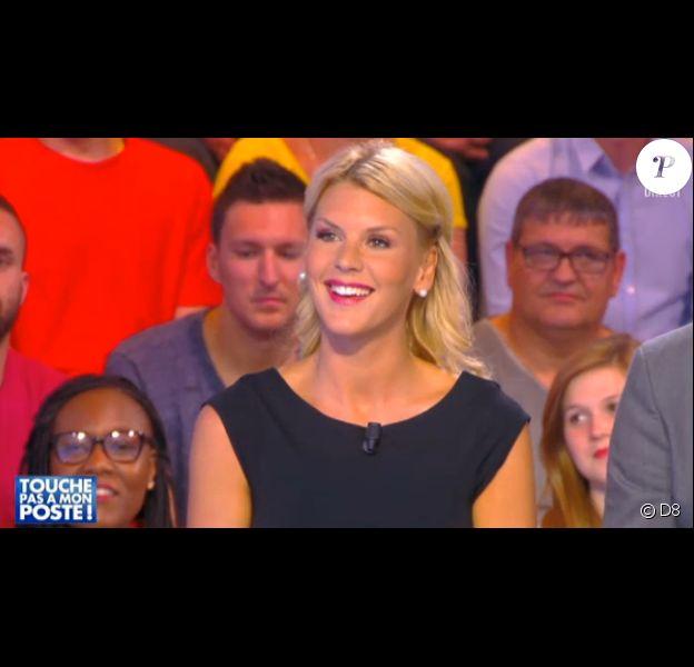 La jolie Amélie Neten invitée de Touche pas à mon poste, sur D8, le 12 mai 2015