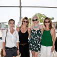 Exclusif - Mademoiselle Agnès (Agnès Boulard), Sarah Lavoine, Cécile Cassel et Gwendoline Hamon - People lors du Longines Paris Eiffel Jumping au Champ-de-Mars à Paris, le 4 juillet 2015.