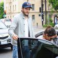 Mila Kunis, enceinte, et Ashton Kutcher sont allés déjeuner à Los Feliz le 24 mai 2014.