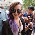 Demi Lovato rencontre ses fans à New York, le 24 juin 2014.