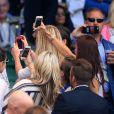 David Beckham a affolé les Lionnes de l'équipe de foot d'Angleterre le 9 juillet 2015 à Wimbledon