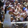 Garbine Muguruza a battu Agneska Radwanska le 9 juillet 2015 en demi-finale de Wimbledon