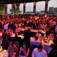 Atmosphère dans la Salle des Etoiles du Sporting de Monte-Carlo le 10 juillet 2015 lors du gala annuel au profit de l'association Fight Aids Monaco, présidée par la princesse Stéphanie de Monaco.