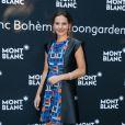 """Virginie Ledoyen - Lancement de la collection """"Montblanc Bohème Moongarden"""" à l'Orangerie Ephémère du jardin des Tuileries, place de la Concorde à Paris, le 9 juillet 2015."""