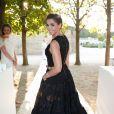 """Clotilde Courau (princesse de Savoie) - Lancement de la collection """"Montblanc Bohème Moongarden"""" à l'Orangerie Ephémère du jardin des Tuileries, place de la Concorde à Paris, le 9 juillet 2015."""