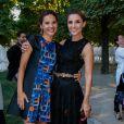 """Virginie Ledoyen et Clotilde Courau - Lancement de la collection """"Montblanc Bohème Moongarden"""" à l'Orangerie Ephémère du jardin des Tuileries, place de la Concorde à Paris, le 9 juillet 2015."""