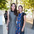 """Charlotte Casiraghi et Virginie Ledoyen - Lancement de la collection """"Montblanc Bohème Moongarden"""" à l'Orangerie Ephémère du jardin des Tuileries, place de la Concorde à Paris, le 9 juillet 2015."""