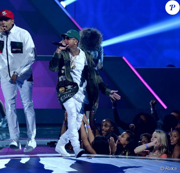 Chris Brown et Tyga lors des BET Awards 2015 à Los Angeles, le 28 juin 2015.