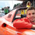 Jules Bianchi à la parade des pilotes sur le circuit de SPA Francorchamps, le 22 août 2014