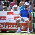 Arnaud Clément lors du match entre Andy Murray et Gilles Simon en quart de finale de la Coupe Davis entre la France et la Grande-Bretagne, au Queens Club de Londres, le 19 juillet 2015