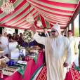 Le roi Mohammed VI du Maroc présidait le 30 juillet 2015 au palais royal, à Rabat, une réception pour la Fête du Trône à l'occasion du 16e anniversaire de son règne.